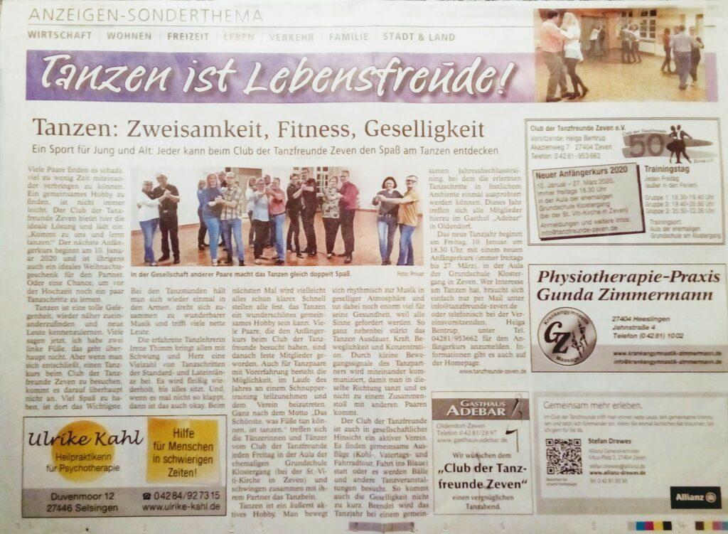 Zevener Zeitung: 10.11.2019