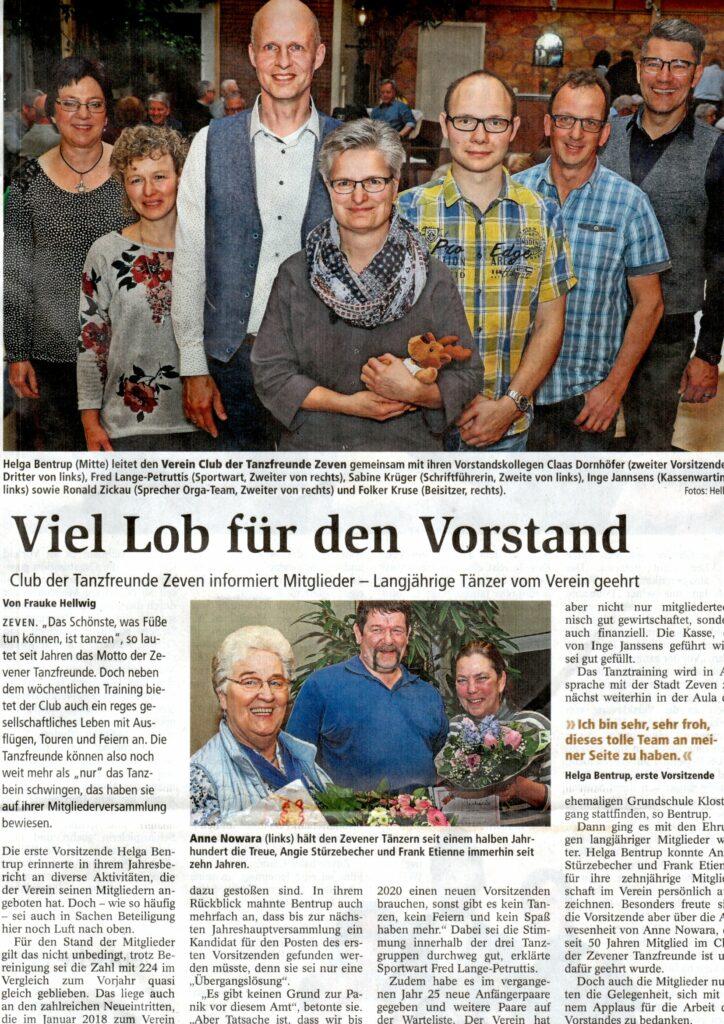 Zevener Zeitung: 26.02.2019